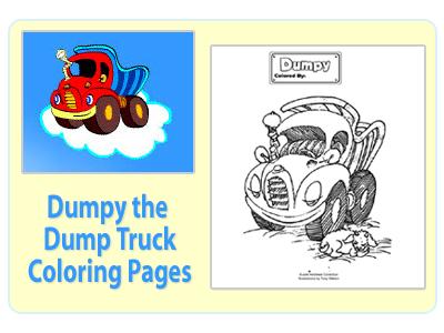 Julie Andrews Dumpy The Dumptruck Coloring Pages