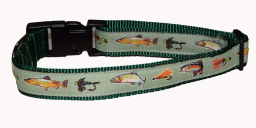 Trout Green Dog Collar