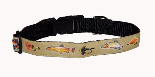Trout Khaki Dog Collar