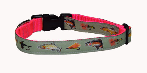 Trout Pink Dog Collar