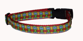 Puzzle Pieces Autism Dog Collar