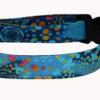 Batik Blue Cotton Dog Collar