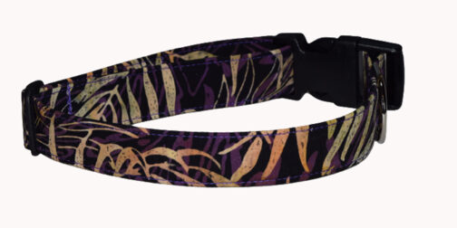 Batik Purple Jungle Cotton Dog Collar