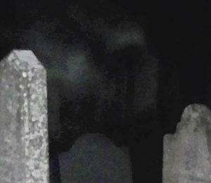 Image of a shape in a cemetery