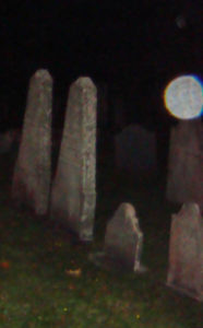 Image of an orb in a Maine cemetery.