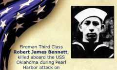 Memory and Sacrifice of USS Oklahoma Sailor Robert James Bennett Honored at National Memorial Cemetery of the Pacific