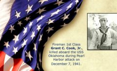 Memory and Sacrifice of USS Oklahoma Sailor Grant C. Cook, Jr. Honored at National Memorial Cemetery of the Pacific