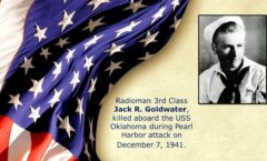 Memory and Sacrifice of USS Oklahoma Sailor Jack R. Goldwater Honored at Utah Memorial on Ford Island