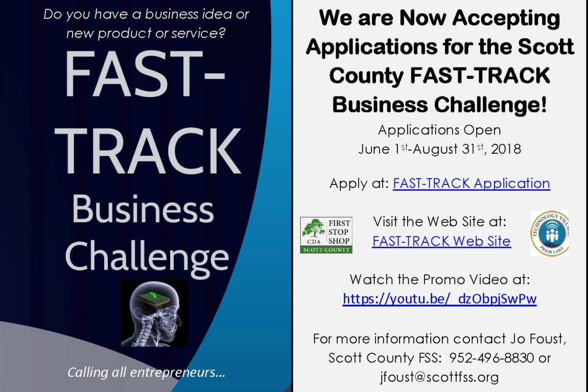 Calling Scott County-based Startups! Enter the FAST-TRACK Business Challenge