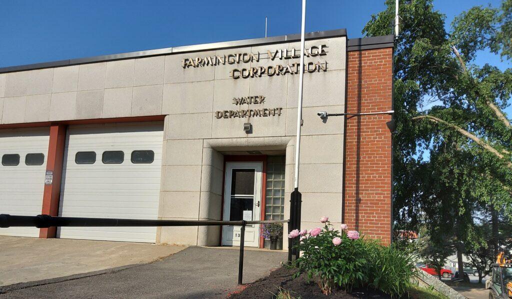Farmington Water Company main office.