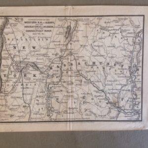 1847 Railroad Map New York and Massachusetts