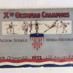 1932 Los Angeles Olympics Brochure cover