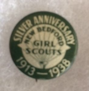 1938 Girl Scouts Silver Anniversary Pinback