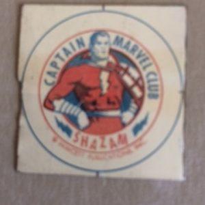 Captain Marvel Club 1930s Tin Litho piece