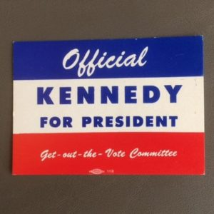 John F Kennedy for President 1960 Card