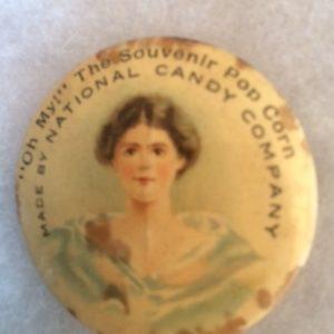 Pop Corn National Candy Company Pinback circa 1900