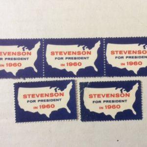Stevenson for President 1960 campaign stamps 5
