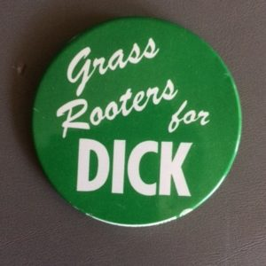Grass Roots for Dick Nixon pinback 1959