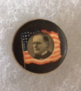 President McKinley Memorial pinback