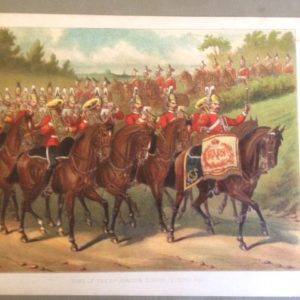 1880s Lithograph 2nd Dragoons