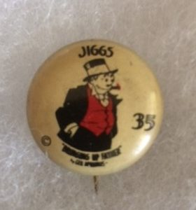 1930s Jiggs Bringing Up Father Pinback