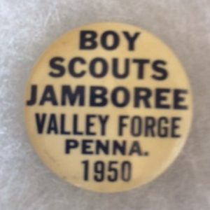 1950 Boy Scouts Jamboree Valley Forge Pinback