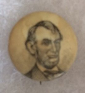 Abe Lincoln Celluloid Pinback