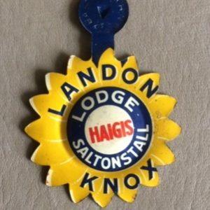 Landon Knox Lodge scarce tab 1936