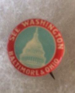See Washington B&O RR pinback