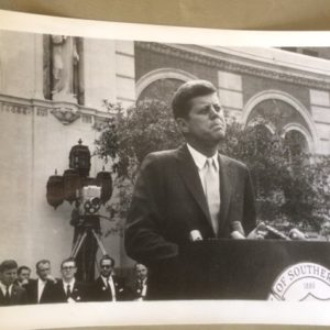 JFK Speech at USC Campus circa 1960