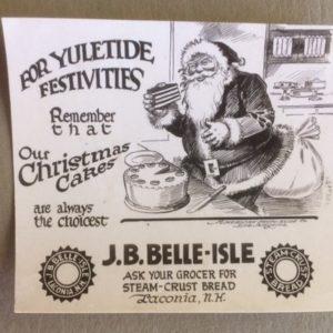 1920s Santa Advertising Card Bread