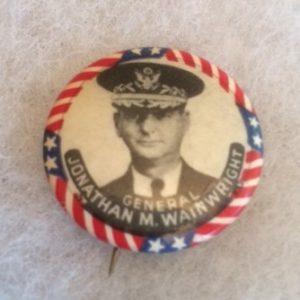 General Wainwright pinback