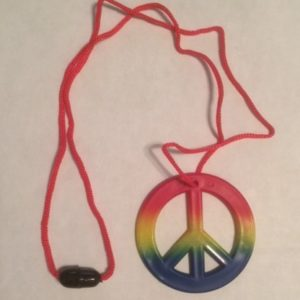Plastic Peace Symbol on String