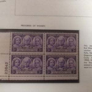 US Postage Block Progress of Women 100 years
