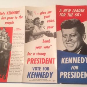1960 Kennedy for President New Leader Brochure