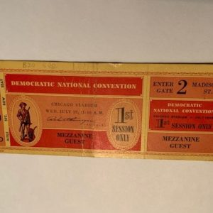 1944 Democratic National Convention Ticket front