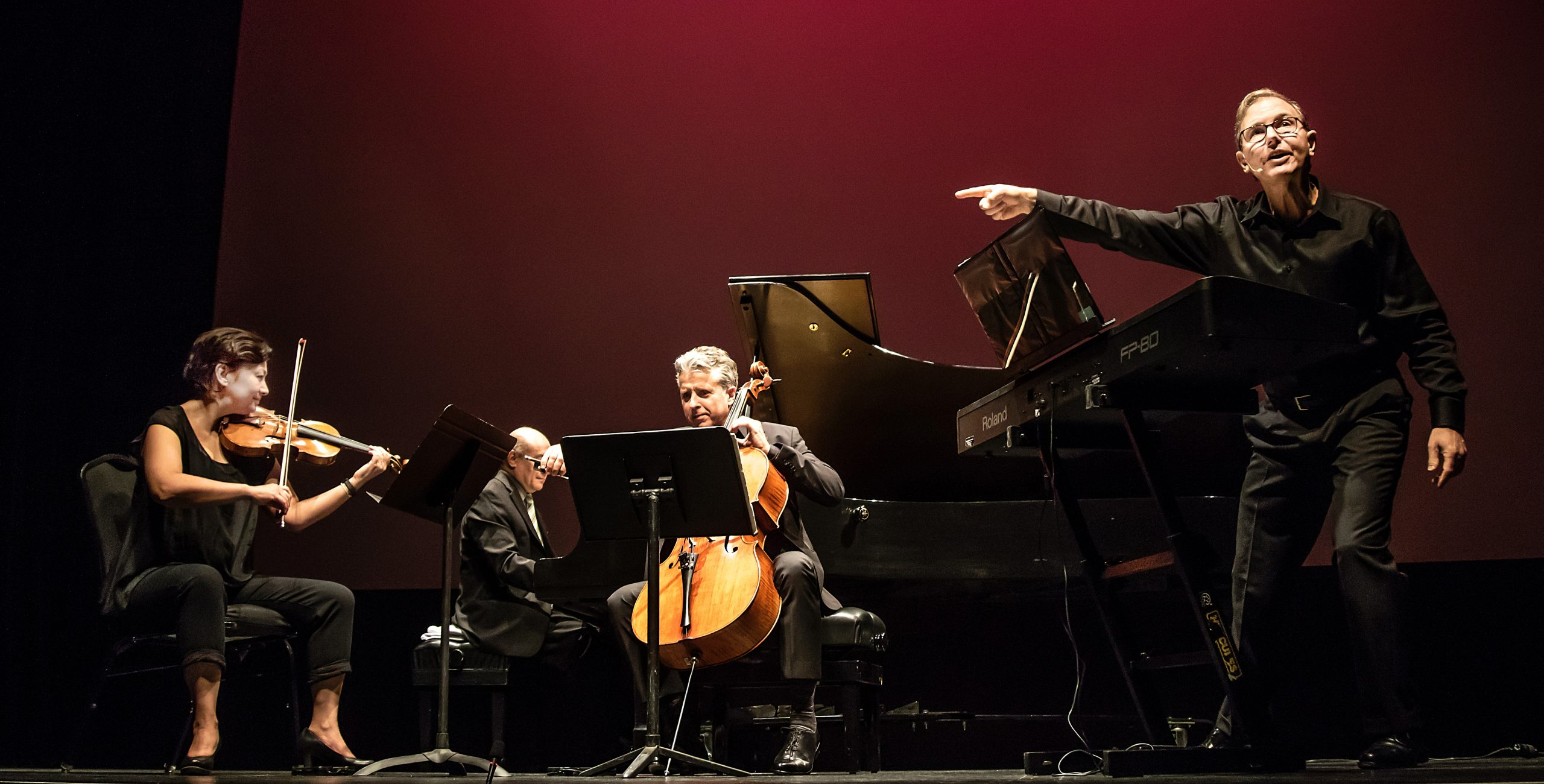 Gryphon Trio and Rob Kapilow in What Makes It Great? © Andre Gagne