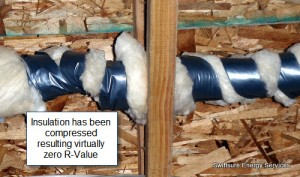 Compressed Pipe Insulation