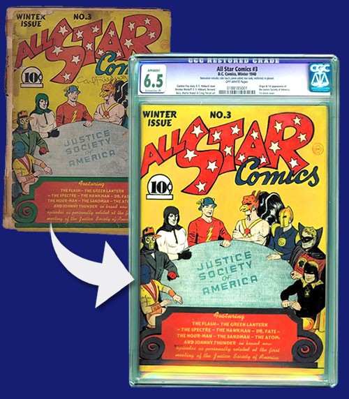 Hero Full Restoration Example Comic
