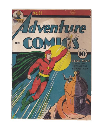 Comic Book Restoration - Adventure Comics BEFORE