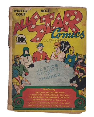 Comic Book Restoration - All Star comics BEFORE