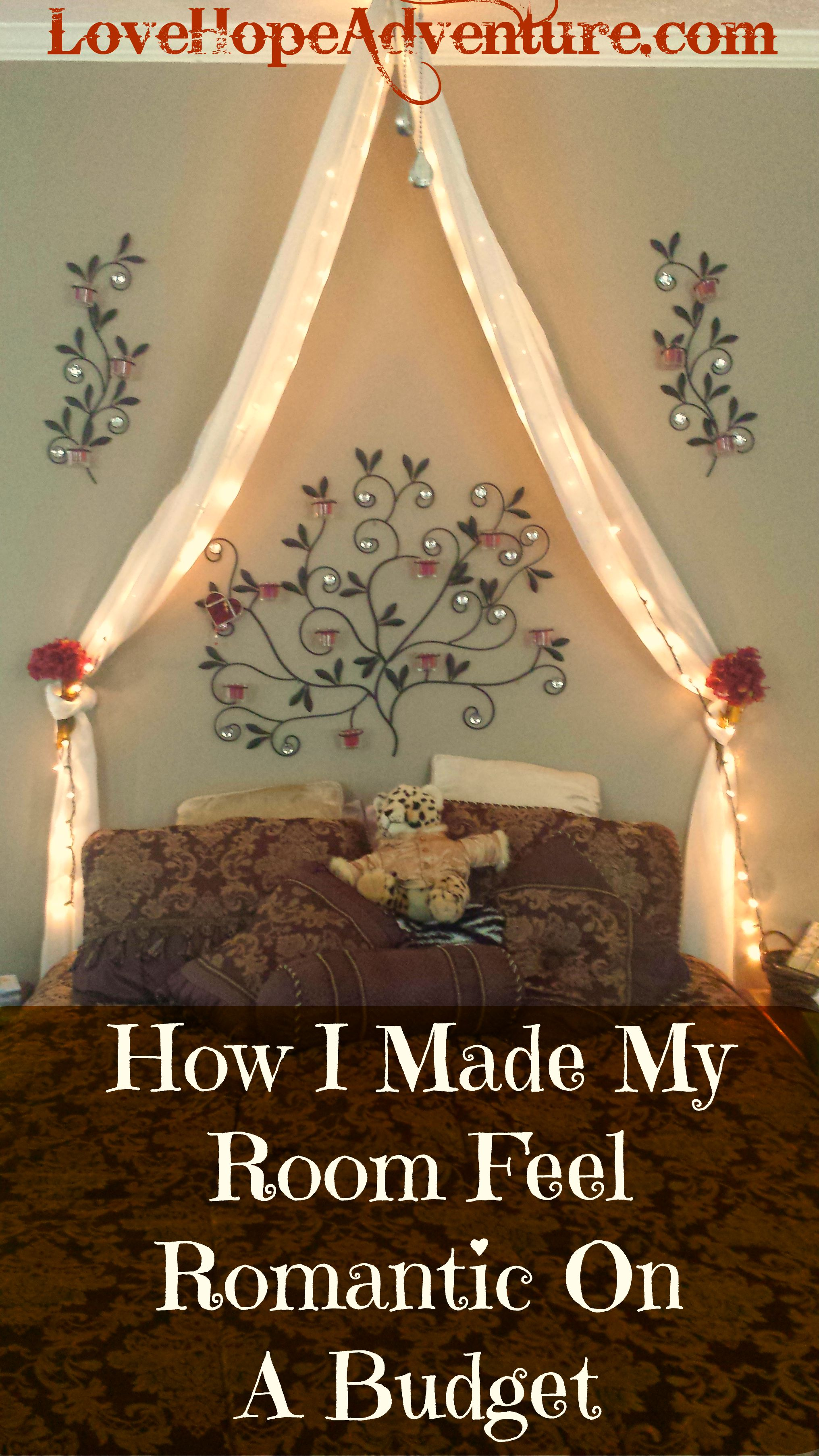 how i made my room feel romantic on a budget