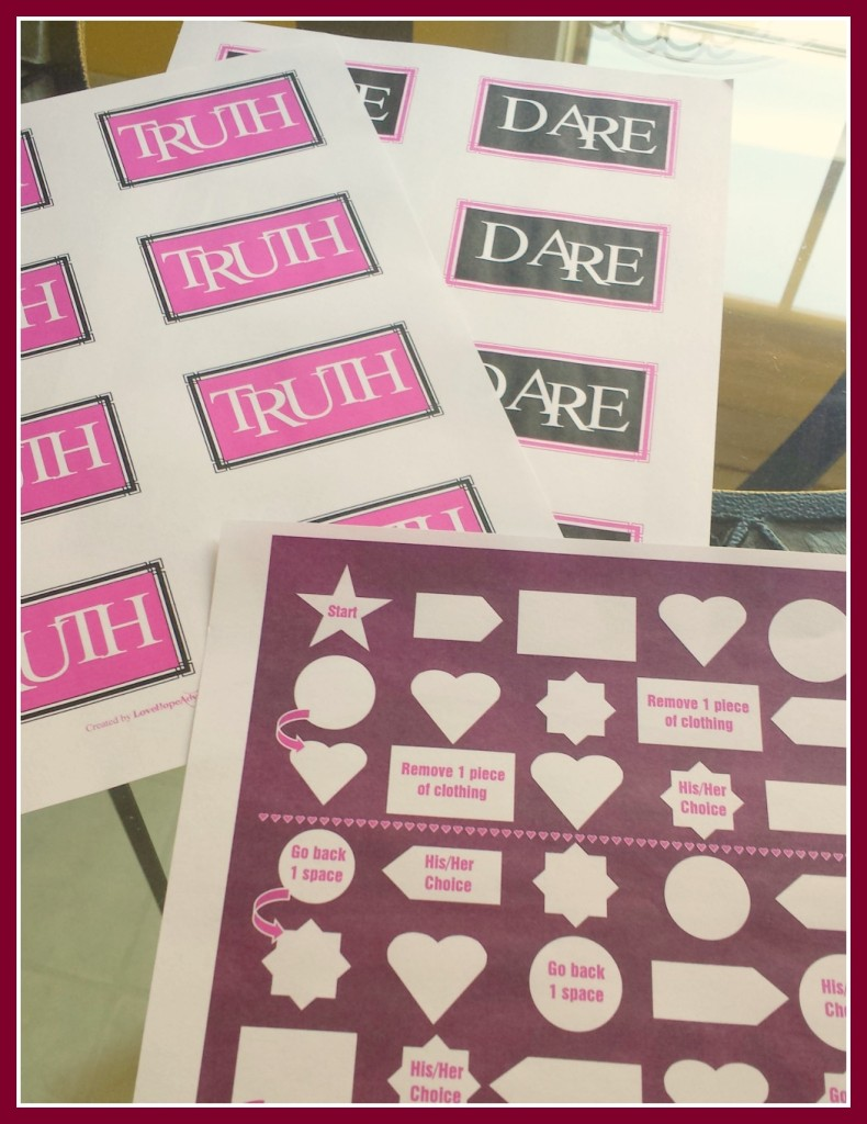 truth or dare game and board game free printable