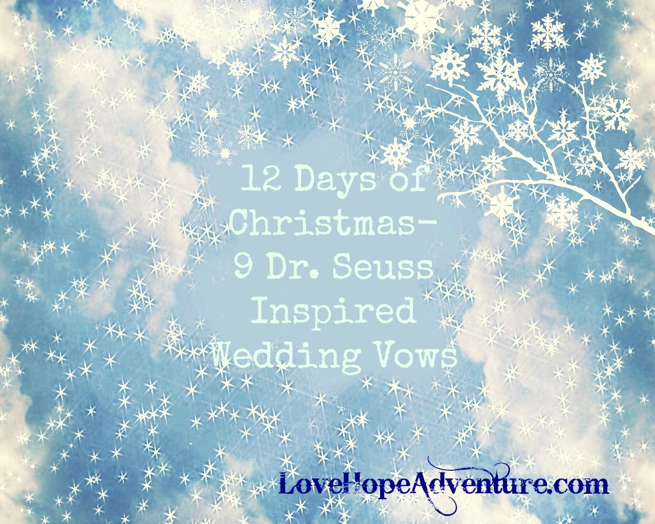 12 Days of Christmas 9 Dr. Seuss inspired wedding vows