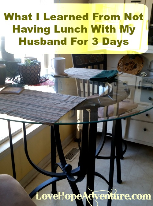 What I learned from skipping lunch with my husband 3 days