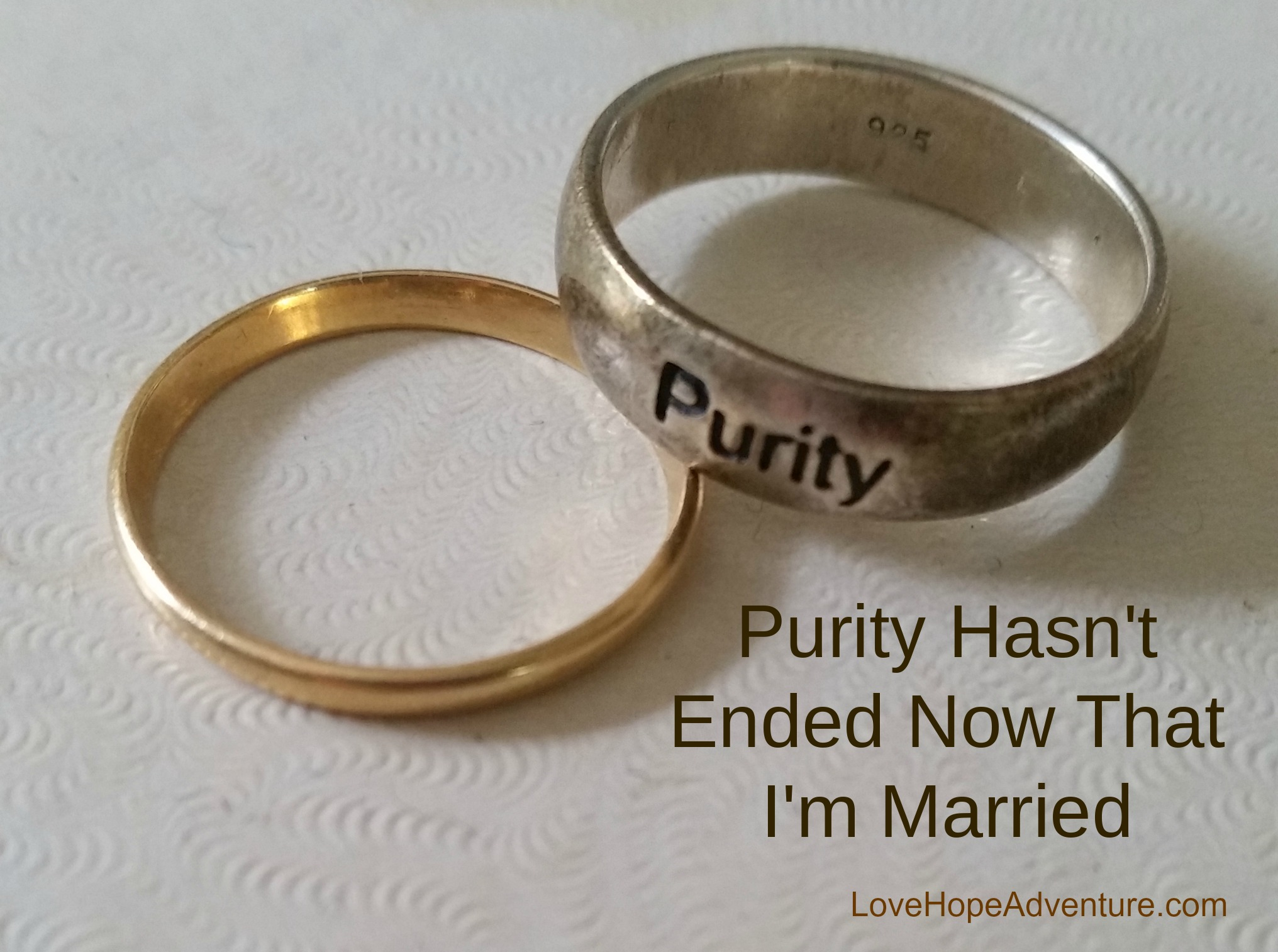 Purity hasn't ended now that I'm married