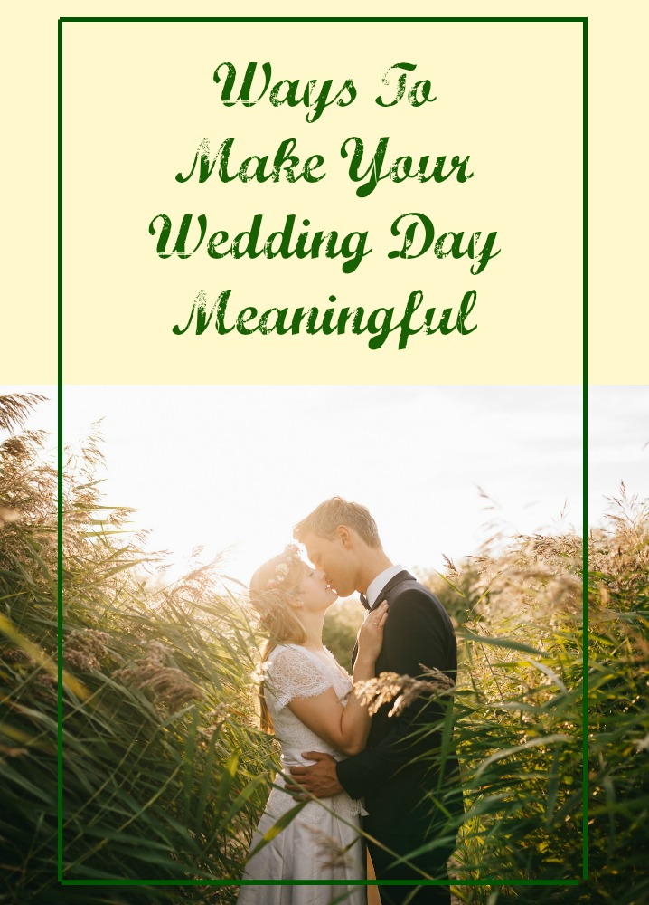 Your wedding day is a significant step in your life. It's when two people decide to commit themselves to one another for the rest of their lives.