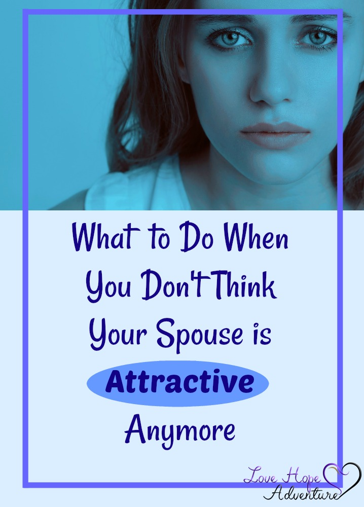 I've feel really sad when readers share that they aren't attracted to their spouse anymore. There's so many reasons that I think our culture is struggling with this. For, one, we don't even think we are attractive, so how on earth are we going to think that of our spouse.