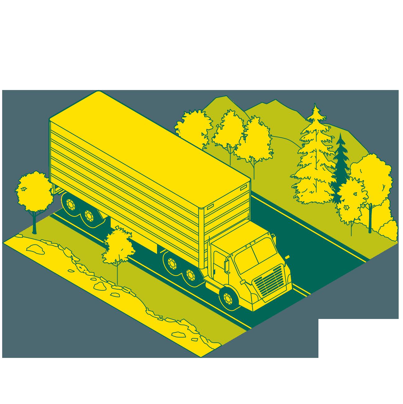 Trucks run on Natural Gas