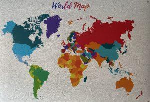 Tablero mapa mundi